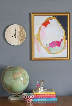Get the full how-to for this gorgeous DIY Gold Leaf Clock by @Carrie Mcknelly Waller of Dream Green DIY by clicking through to the eHow Home blog