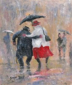 Image of 'Togetherness' Giclee Canvas by Des Brophy