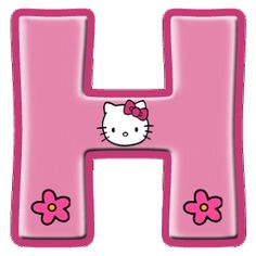 Alfabeto de Hello Kitty con letras grandes. | Oh my Alfabetos! Hello Kitty Cake, Hello Kitty Items, Hello Kitty Birthday Theme, 1st Birthday Girls, Hello Kitty Pictures, Kitty Images, Hello Kitty Backgrounds, Hello Kitty Wallpaper, Alphabet