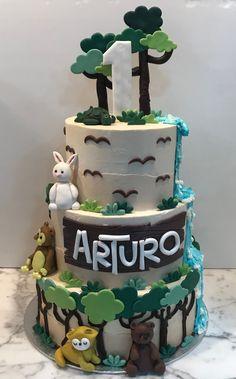Tarta buttercream selva. Birthday Cake, Cupcakes, Desserts, Food, Fondant Cakes, Lolly Cake, Candy Stations, One Year Birthday, Tailgate Desserts