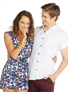 Nic Westaway and cast mate Isabella Giovinazzo Home And Away Cast, Sams, Hottest Pic, It Cast, Actresses, Tv, Couples, Wedding Dresses, Summer