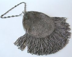 Antique Estate Faceted Steel Bead Purse by Sfuso on Etsy, $200.00