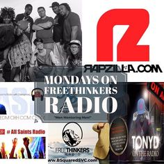 Let's get your week started!! Enjoy all the Great music! 2pm: The Freethinkers Radio Show 5pm: New Artist Profile with Tony D 7pm: The Freethinkers Radio Show LIVE!! 9pm: Keep Pushing Journey of Faith with DBake 10pm: Rapzilla Live with Chris Chicago App and Website on the Pinned Post!! #freethinkersradio #weekend #turnup - facebook.com/rlwonderland