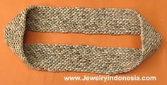 Coconut Wood Beads Belts Indonesia