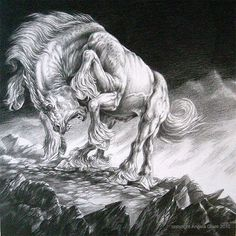 Sleipnir, an eight-legged stallion in Norse mythology.