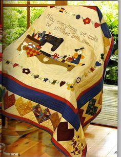 Artesanato e Cia: Panô em patchwork com motivos de costura- moldes