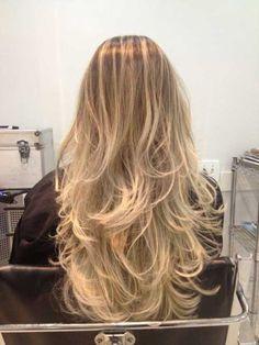 nos loiros balayage Ombré Hair, Long Hair Styles, Beauty, Balayage Hair, My Hair, Dip Dyed, Hair Colors, Cases, Highlight
