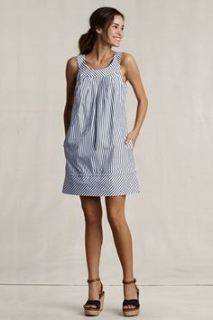 navy striped shift dress - would make a great bday present to myself.....