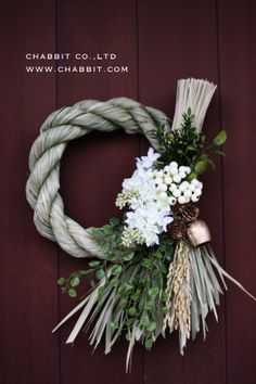Pin by on Flower arrangement Love Flowers, Dried Flowers, Beautiful Flowers, Christmas Themes, Christmas Wreaths, Japanese New Year, New Years Decorations, Xmas Holidays, Floral Arrangements