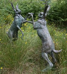 Best garden sculpture yet! . . . Actually, anybody else see the movie Watership Down? Just about the scariest animated movie I've ever seen.