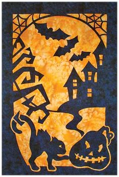 halloween quilts! kit from keepsake quilting $39.99, includes backing. 24x36 inches.
