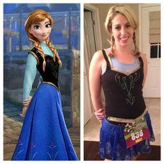 "Anna ""Frozen"" Running Costume"