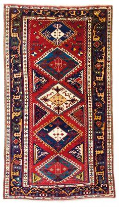 Shirvan carpet 8ft. 8ft. x 4ft. 10in. (263 x 148 cm) Caucasus circa 1870