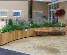 Image result for outside seating barriers planters