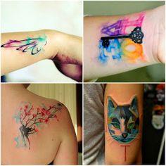 Através das Primaveras : Conheça e inspire-se: tattoo aquarela