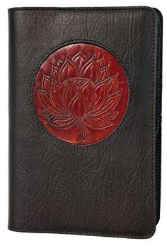 Oberon Design - Lotus Icon Refillable Leather Journal