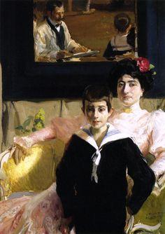 Joaquin Sorolla y Bastida (1863 – 1923, Spanish)  Lucrecia Arana With Her Son