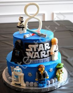 the Best Star Wars Birthday Cake . Smile Laugh and Learn Star Wars Lego Cake Star Wars Birthday Cake, Star Wars Cake, Lego Birthday, Birthday Cakes, Birthday Ideas, 25th Birthday, Crazy Cakes, Fancy Cakes, Bolo Lego