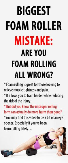 Biggest FOAM ROLLER MISTAKE: are you foam rolling all wrong? There is no debating that foam roller exercises and foam rolling in general have become a major part of fitness routines in the last ten years. The problem is, the majority of those that have adopted foam rolling exercises into their workouts are making big mistakes when it comes to how to perform them… #foamrolling #musclepain #tightmuscles #howtofoamroll
