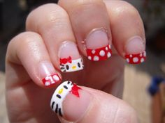 Cute Girls Hello Kitty Nail Art #naildesigns #hellokittynaildesigns #nailideas #nails http://naildesignsite.com/hello-kitty-nail-designs/
