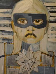 "Saatchi Art Artist Laurel Gallagher; Painting, ""Feral Girl"" #art"