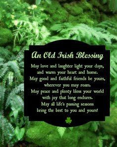 Irish Blessing A wonderful way of enjoying the Irish culture is with sterling silver Irish jewelry http://www.handcraftedcollectibles.com/celtic_jewelry.htm Irish Quote