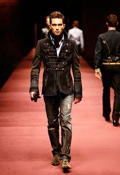 D modern take on historical officer's frock coats - gorgeous. I would wear this!