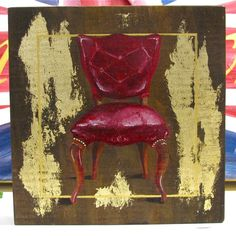 Red Chair ,original acrylic painting by Gigi Begin