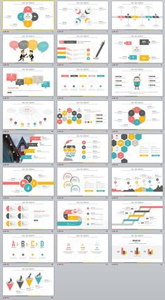 25+ multicolor infographics charts PowerPoint Template