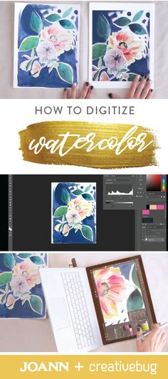 Don't let your doodles and drawings go to waste—with this tutorial from Creativebug, you can learn how to digitize your watercolors to create printable wall art. This skill would also be wonderful if you're dreaming of selling your creations!