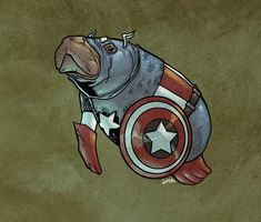 DC And Marvel Superheroes As Manatees - AWESOME!