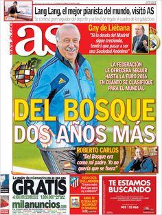 Los Titulares y Portadas de Noticias Destacadas Españolas del 9 de Octubre de 2013 del Diario AS ¿Que le pareció esta Portada de este Diario Español?