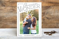 Wonder Filled Christmas Photo Cards by Baumbirdy | Minted