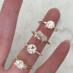 A selection of custom engagement rings by Gem Breakfast Bespoke. Perfect for those wanting a one-of-a-kind creation. Gem Hunt, Fine Jewelry, Jewelry Making, Alternative Engagement Rings, Elegant Bride, Bespoke Jewellery, Dream Ring, Ring Designs, Wedding Rings