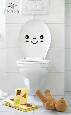 cute idea for the kids bathroom... wonder if guests would enjoy it too? lol
