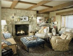 The Holiday movie cottage living room AD