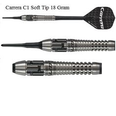 Target Carrera C1 Pixel Grip 90% Tungsten Soft Tip Darts  Target Carrera C1 Pixel Grip 90% Tungsten Soft Tip Darts    This stunning new dart features Targets Darts unique, revolutionary new Pixel Grip technology. It combines both axial and radial precision milled cuts to produce a bi-directional grip form never before seen on a dart.    This is Target Darts at it's innovative best - creative design and unique technology, together bringing you darts of supreme craftsmanship.  Revolutionary…