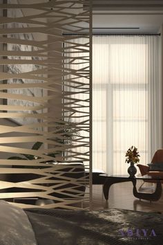 The Aluminum Room Divider: Among all these, experts highly recommend using aluminum as the best material for room dividers due to its strength and light-weight. Because of its low density, it is widely used in many structural applications. This strong, durable, and heavy-duty material is practically used as a portable wall compared to other metals. Even if it is used regularly, it does not quickly wear out. LEARN MORE BY CLICKING THE IMAGE! Decorative Screen Panels, Decorative Room Dividers, Exterior Design, Interior And Exterior, Laser Cut Screens, Room Partition Designs, Privacy Screen Outdoor, Laser Cut Metal, Architectural Elements