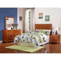 Powell Finley Bed In A Box Brown Full Size Bedroom