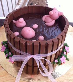 Funny chokolate cake! Gotta make one of those...
