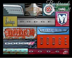 Dodge logos Collage fine art home decor wall by Backroadsandbball, $20.00