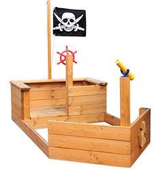 Boat sandpit