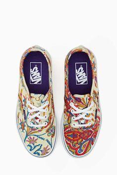 Vans X Liberty London Authentic Sneaker - Paisley.... Love love love!