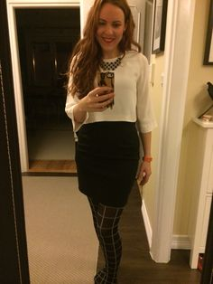 Office look. Work outfit. Job clothes. Daily fashion.
