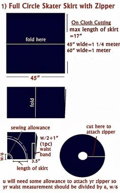 Sew Easy Sewing Fashion Blog: Four Different Types of Circle/Skater Skirts