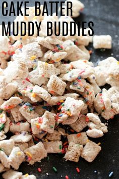 50 Ideas For Birthday Party Snacks Easy Cake Batter Funfetti Kuchen, Funfetti Cake, Chex Mix, Peanut Butter Muddy Buddies, Birthday Party Snacks, Birthday Crafts, Birthday Wishes, Bean Cakes, Appetizers For Kids