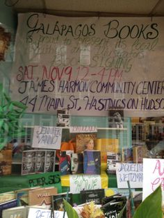 Galapagos #Books supports local authors in Hastings-on-Hudson, NY