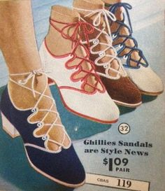 1930s Shoes History - Causal Ghillie Shoes