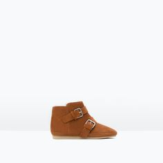 ZARA - NEW IN - LEATHER BOOTS WITH BUCKLE DETAIL