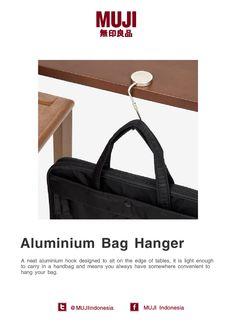 MUJI aluminium bag hanger